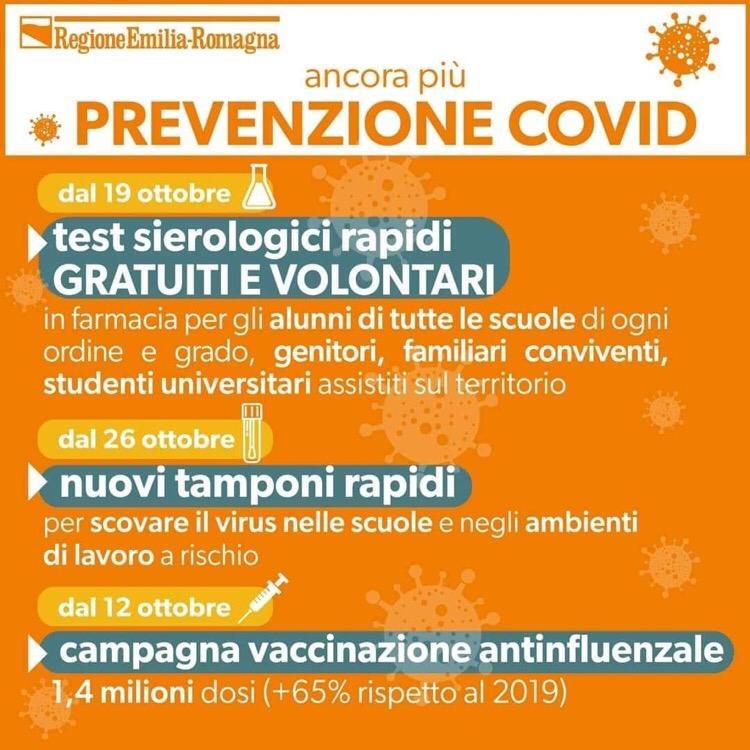 Test sierologici gratuiti in farmacia per alunni delle scuole dell